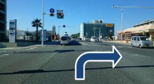 134号線サザンビーチ信号を右折