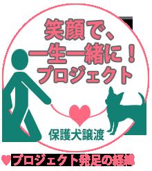 笑顔で一生一緒にプロジェクト「保護犬譲渡/最適化促進」