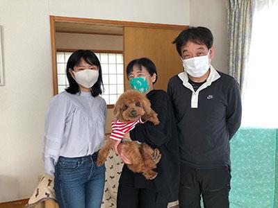 保護犬の新しいご家族